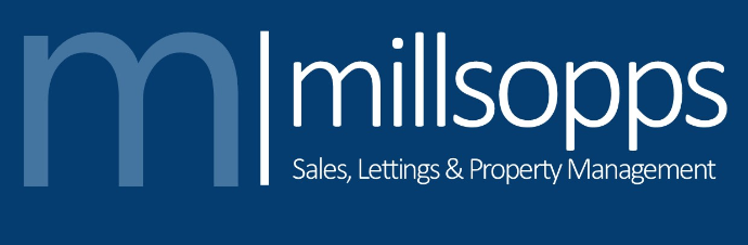 Millsopps Logo with blue background